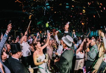 DJ Gets the Bride and Groom to Party On The Dancefloor With Wedding Guests on New Years Eve
