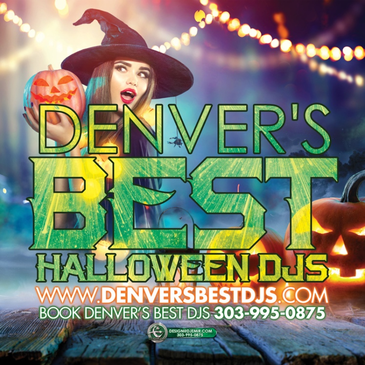 Denver's Best Halloween DJs Colorado Halloween Party DJ service flyer