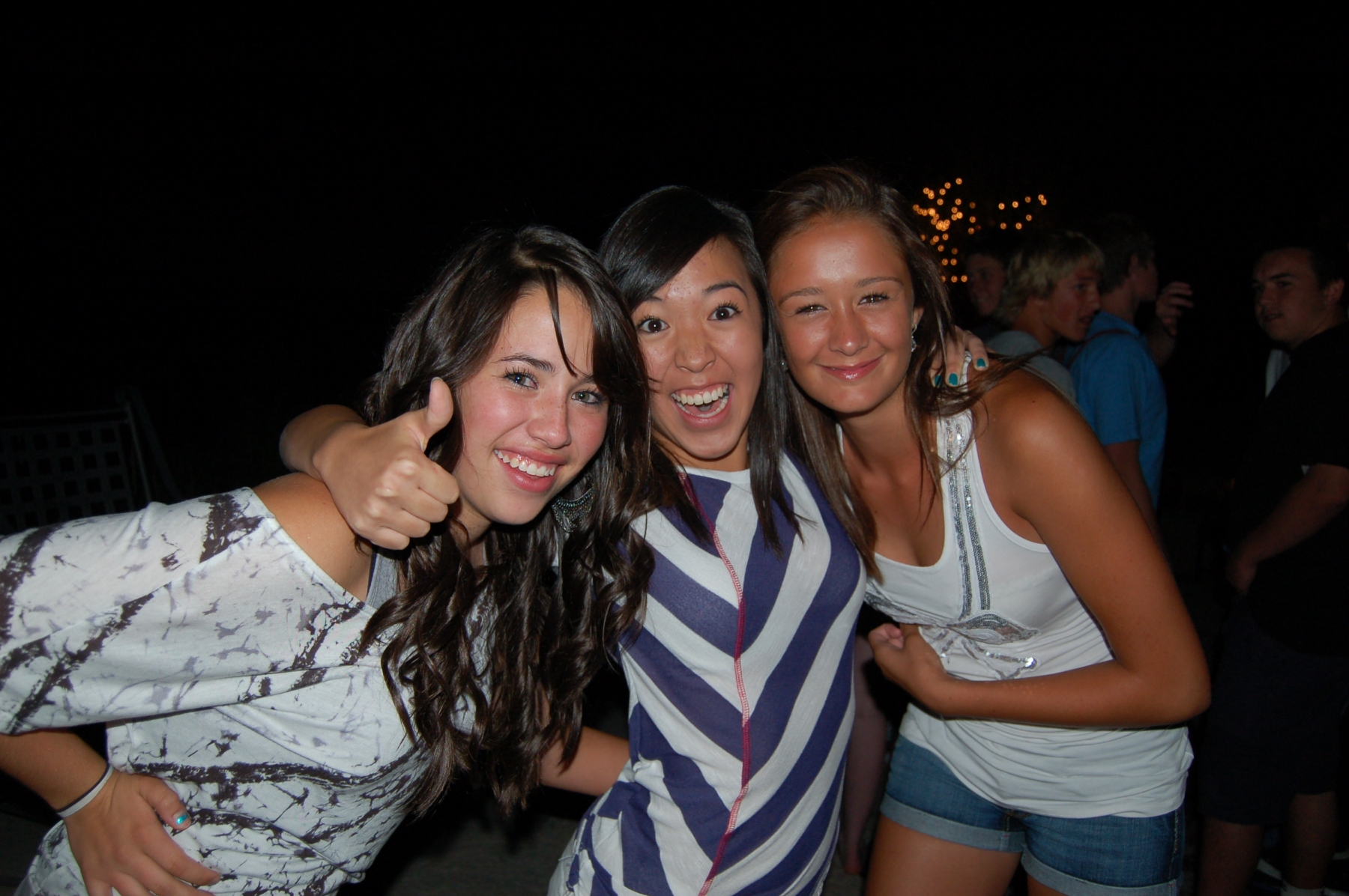 Three Girls having a great time at this fun and exciting pool party with Denver Colorado's Best Pool Party DJ, DJ Emir of Denver's Best DJs Asian Girl, White Girls have fun